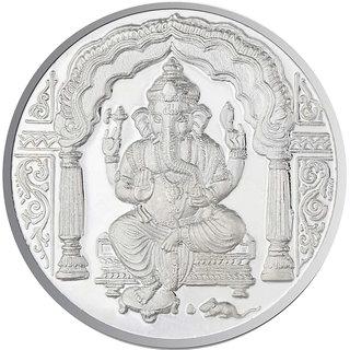 Sri Jagdamba Pearls 10 Grams Ganesh Silver Coin