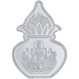 Sri Jagdamba Pearls 5 Grams 99.9  Laxmi Kalash Silver Coin