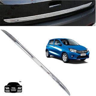 Buy Trigcars Maruti Suzuki Celerio Car Chrome Dicky Garnish Online