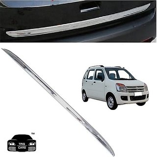 Trigcars Maruti Suzuki Wagon R 2007 Car Chrome Dicky Garnish