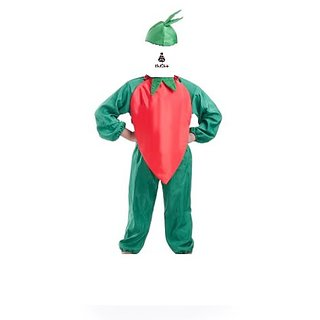 Chilli Red Vegetable Fancy Dress Costume For Kids