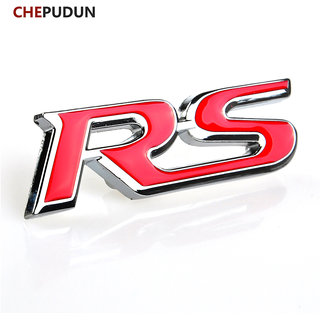 DY Red Auto Metal RS Logo Emblem Badge Sticker Decal