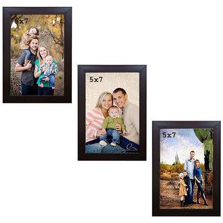 Crete Photo Frame (Brown, 3 Frames)