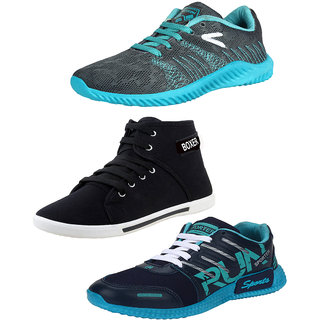 Super Combo-Multicolor Pack of 3 Sports Running Shoes