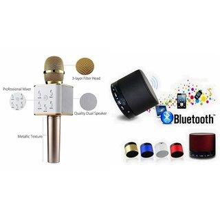 Clonebeatz Q7 Microphone and S 10 Bluetooth Speaker for INFOCUS BINGO 10(Q7 Mic and Karoke with bluetooth speaker  S 10 Bluetooth Speaker )