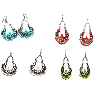 Designer Ethnic Combo Set of 4 Earrings by Vidyawati