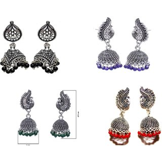 Designer Ethnic Jhumki Combo set of 4 Earrings by VIDYAWATI