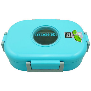Tuelip Tedemei Rectangle Shape 1 Containers Lunch Box - Blue