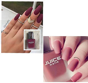 Combo Of Juice Matte Lovely Nail Paint Shade (M-23 M-30 )