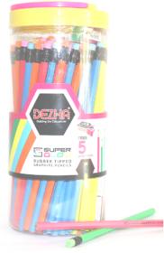 Dezha Super Glow Pencil JAR Hexagonal Shaped Pencils ( Set of 1, MultiColors)