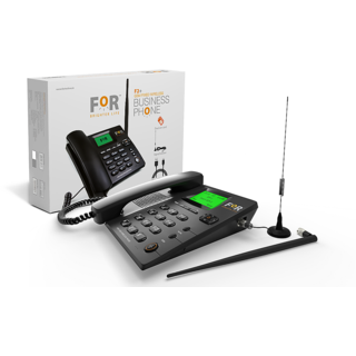 F2+GSM FIXED WIRELESS PHONE (BLACK) BY FOR BRIGHTER LIFE