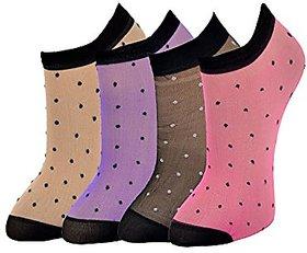 CH Fashion Ladies Ankel Socks Pack of 4