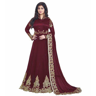 Utsav Designer New New Arrivel Maroon Georgette   Long Anarkali Salwar Suits