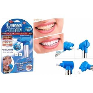 Tryviz Tooth Polisher Whitener Stain Remover with LED Light Luma Smile