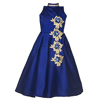 1fee356a9 Buy White World Girls Birthday Party wear Gown(Blue) Online - Get 67 ...