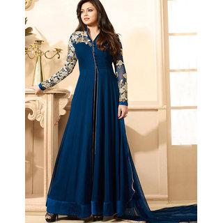 Utsav Designer New  Delightful Blue Georgette Anarkali Style Salwar Suits