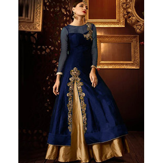 Utsav Designer New  Delightful Navy_Blue Taffeta+Net Indo-Western Salwar Suits