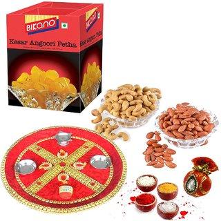 Bikano Kesar Angoori Petha 1kg and Dryfruits-Bhaidooj thali
