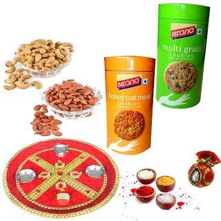 Bikano Health Cookies and dryfruits-Bhaidooj thali
