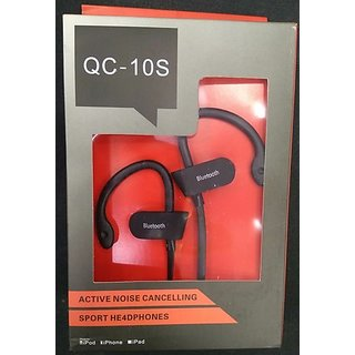 SCORIA QC-10 Wireless Sports Bluetooth Headset with Mic Opoolo QC-10 Sweatproof Earbuds Best for Running Gym Noi