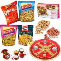 Bikano Gourmet Bag With Dryfruits-Bhaidooj Thali