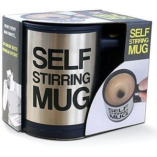 BANQLYN Self-Stirring Silver Coffee Mug