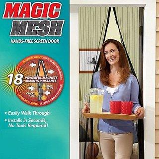 BANQLYN Magic Mesh Hands Free Magnetic Screen Door