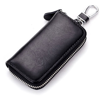 Multifunctional Leather Car Key Holder Wallets Men Women Key Shell Keys Keychain Covers Key Case Bag