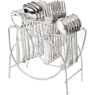 G.K Stainless Steel Cutlery Stand New /spoon holder/ knives holder/ fork stand(24 Pc Cutlery Holder).Spoons Not Include