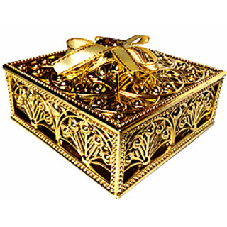 Jewellery Box (Golden) A Gift Box  Beautiful Box Plastic