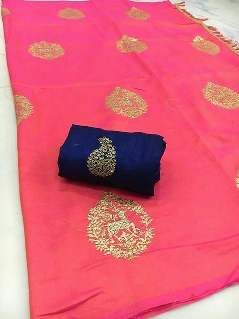 0d2c3a717 Buy LATEST NEW DESIGNER SANA SILK SAREE (DEER EMBROIDERY) WITH EMBROIDERY  WORK PARTY WEAR Online @ ₹1089 from ShopClues