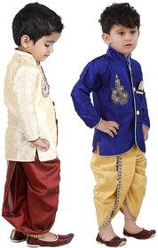 Oshin Creation Silk Kurta Dhoti Indowestern for Boys Combos