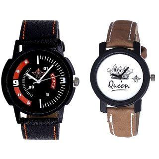 Attractive Sport Design And Queen Taj Design Dial Couple Casual Analogue Wrist Watch By Gujrat Hub