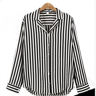 Code Yellow Women's Stripe Elegant Office Shirt