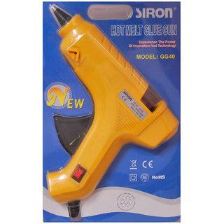 Geetanjali Decor (SIRON) heavy duty 40 w hot melt glue gun with 6 glue sticks