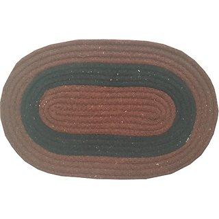 Deerosita Brown Color Cotton Abstract Pattern Door Mat Set of 1