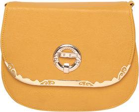 Yellow Color Stylish Sling Bag Shoulder Bag Purse For Girls Women