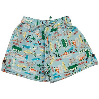 Pikaboo Vehicle Printed Infant Boys Cotton Shorts