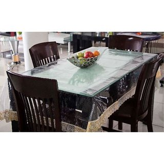 Deerosita Solid Gold Color PVC 6 Seater Table Covers