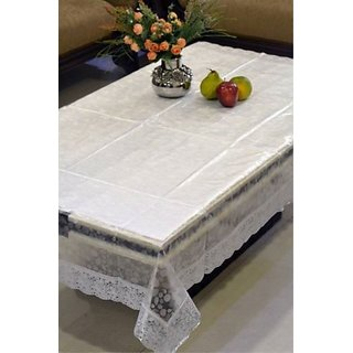 Deerosita Self Design Transparent Color PVC 4 Seater Table Covers