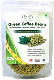 Sinew Nutrition Green Coffee Beans Decaffeinated  Unroasted Arabica Coffee -400gm for weight management