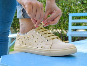 Trendy Look Beige Sneakers