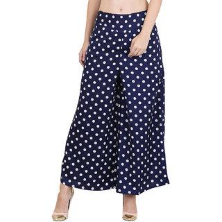 Trendy Soft Regular Fit Women's Designers Blue Trousers.