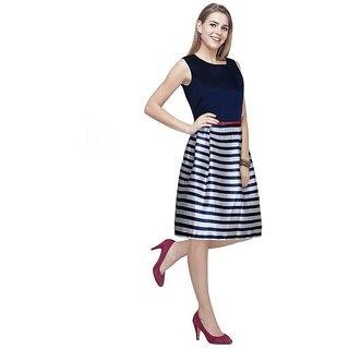 APM Royal A Line Style Super Design Short Dress For Women - Blue