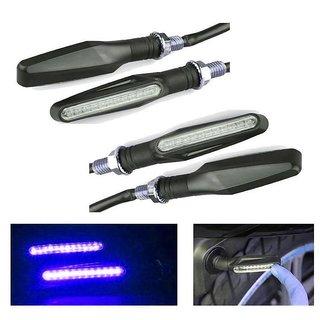STAR SHINE Motorcycle KTM LED Turn Signal Indicators Light Lamp(Blue-4 pc) For Hero MotoCorp Passion XPRO Disc