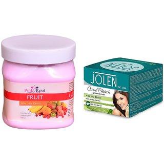 JOLEN Aloe Vera Bleach Crme (MEDIUM) 35G and Pink Root Cocoa Butter Cream 500ml