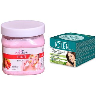 JOLEN Aloe Vera Bleach Crme (MEDIUM) 35G and Pink Root Foot Spa Cream 500ml