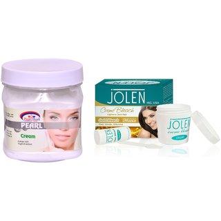 JOLEN Gold Bleach Crme (MEDIUM) 35G and Pink Root Pearl Cream 500ml