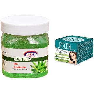 JOLEN Aloe Vera Bleach Crme (MEDIUM) 35G and Pink Root Hair Repair Spa 500ml