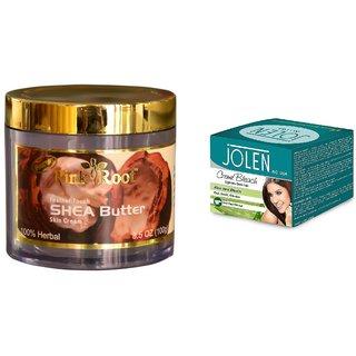 JOLEN Aloe Vera Bleach Crme (MEDIUM) 35G and Pink Root Pomegranate Butter Cream 100gm